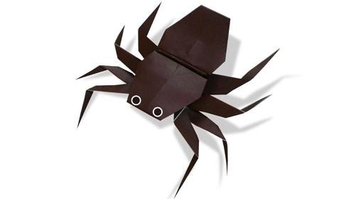 Как сделать паука оригами?