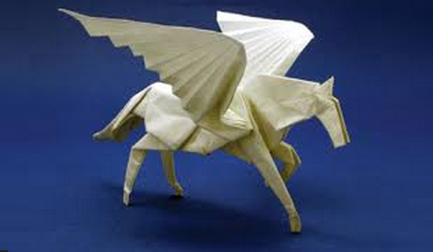 Пегас(+видео). пегас оригами