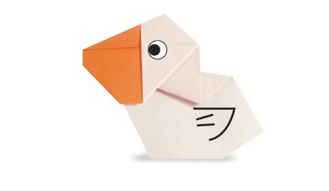 пеликан 2 оригами