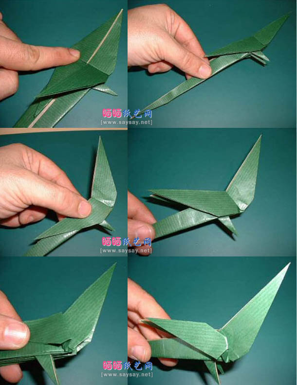попугай оригами 5