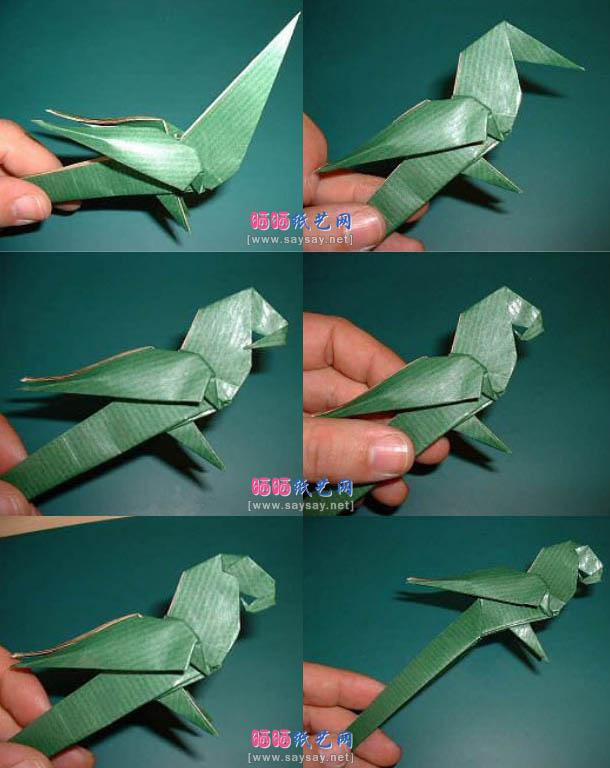Как сделать попугая оригами
