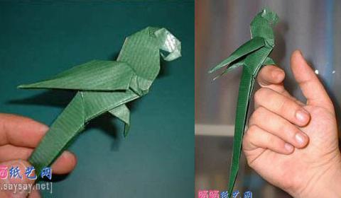 Как сделать попугая оригами из