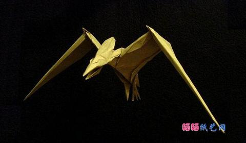 птеродактель оригами