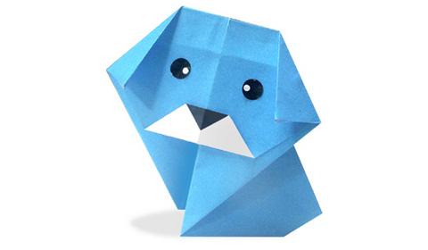 пёсик оригами