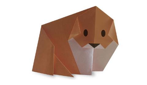 пёс оригами