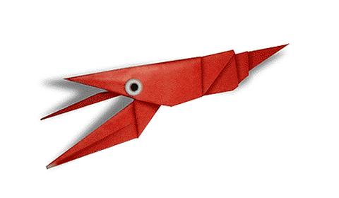 рак оригами