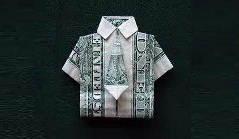 Как сделать рубашку из денег
