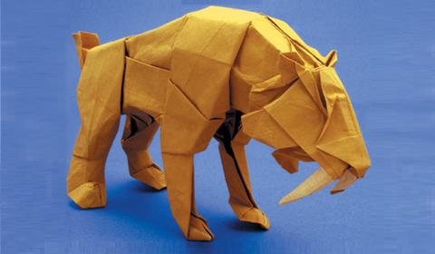 саблезубый тигр оригами