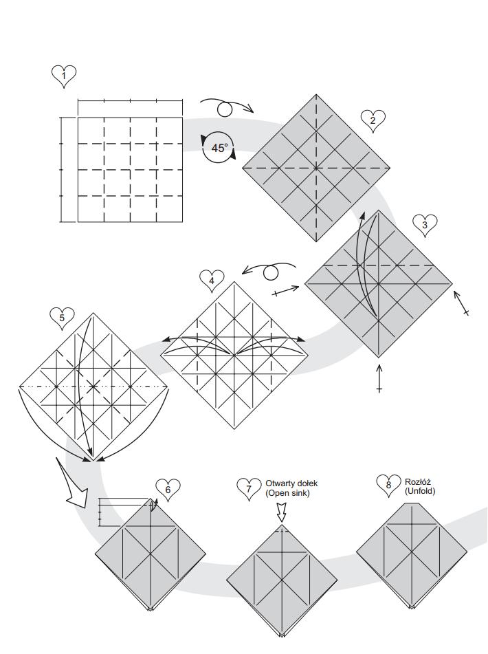Оригами конверт из денег схема