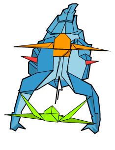 скорпион оригами 68