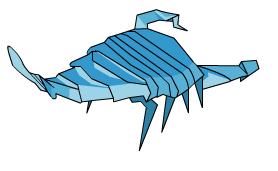 скорпион оригами 71
