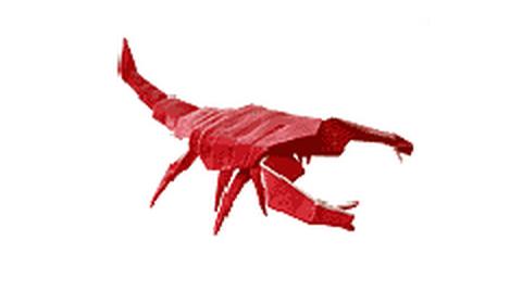 скорпион оригами