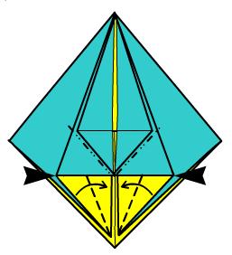 собака оригами 4