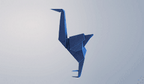 страуса оригами? Схема с