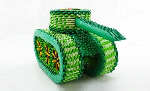 танк модульное оригами