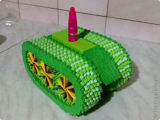 Схема модульного оригами танка
