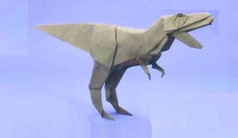 тираннозавр оригами