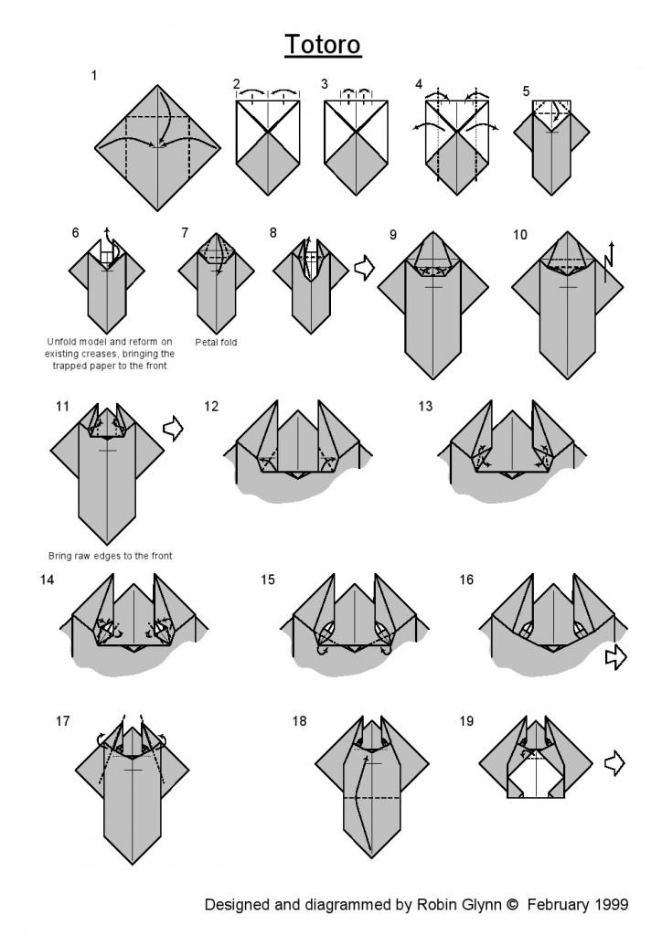 тоторо оригами 1