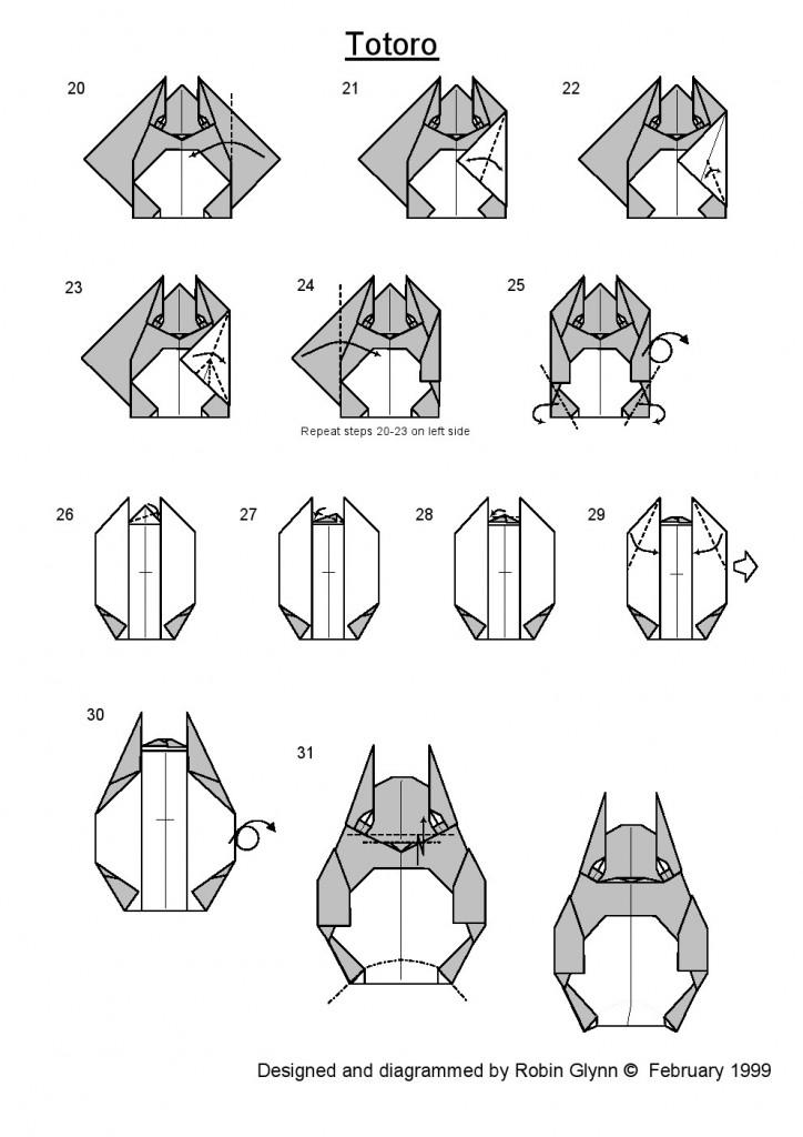 тоторо оригами 2