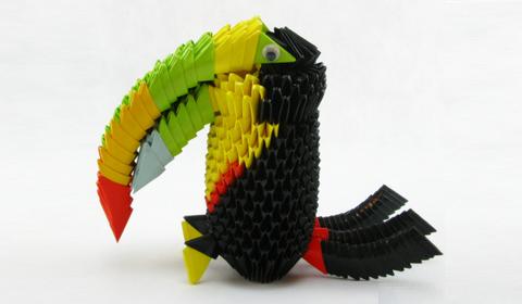 тукан модульное оригами