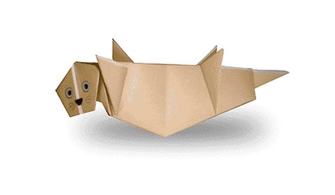 тюлень оригами