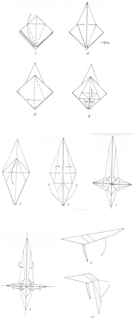 Схемы оригами фламинго