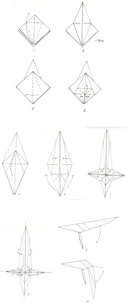 фламинго оригами 1