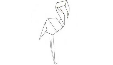 фламинго оригами
