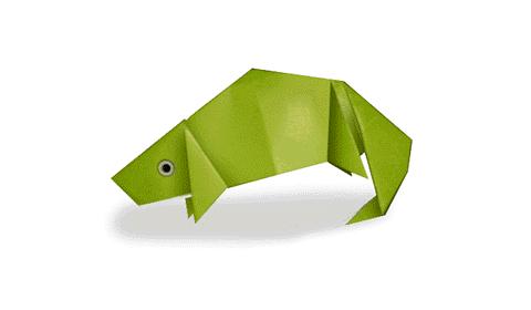 хамелеон оригами