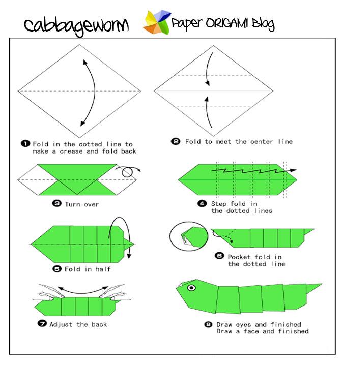 Простая роза оригами схемы