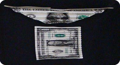 бабочка из денег 12