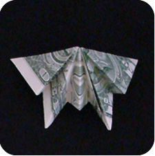 бабочка из купюры 18