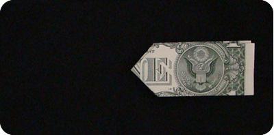галстук-бабочка из денег 10
