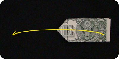 галстук-бабочка из денег 11