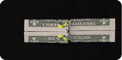 галстук-бабочка из денег 12