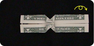 галстук-бабочка из денег 13