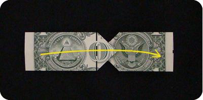 галстук-бабочка из денег 14