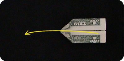 галстук-бабочка из денег 16