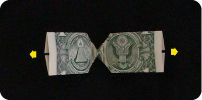 галстук-бабочка из денег 17