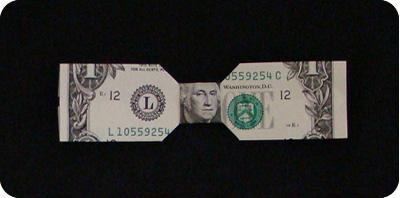 галстук-бабочка из денег 20