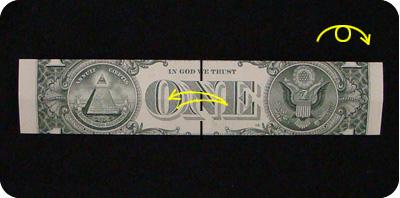 галстук-бабочка из денег 4