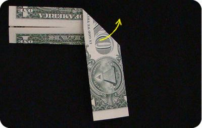 галстук-бабочка из денег 6