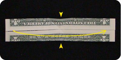 галстук-бабочка из денег 9