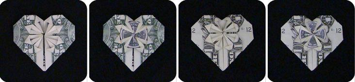 денежное сердце оригами 0