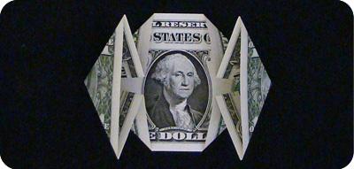 денежное сердце оригами 10