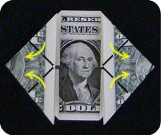 денежное сердце оригами 11