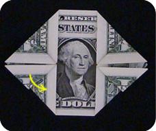 денежное сердце оригами 12