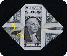 денежное сердце оригами 13
