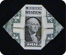 денежное сердце оригами 16