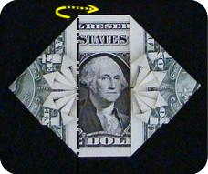 денежное сердце оригами 21
